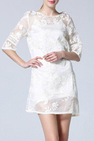 Sale Embroidery Mini Dress and Cami Dress Twinset