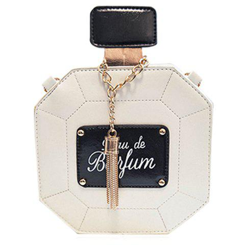 Outfits Sweet Tassel and Chain Design Crossbody Bag For Women WHITE
