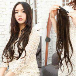 Elegant Style Soft Waves Heat Resistant Fiber Long Wig For Women - DEEP BROWN