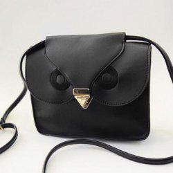 Retro Hasp and Owl Design Women's Crossbody Bag -