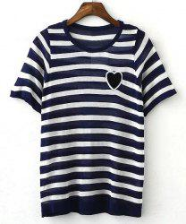 Women's Stylish Striped Short Sleeve T-Shirt -