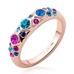 Faux Crystal Colored Ring -