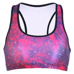 Racerback Galaxy Padded Yoga Bra - ROSE