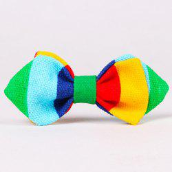 Stylish Colorful Stripe Pattern Double-Deck Bow Tie For Kids -