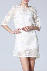 Embroidery Mini Dress and Cami Dress Twinset -