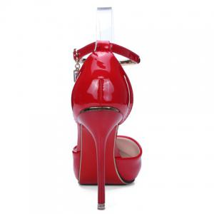 Trendy Metal and Patent Leather Design Pumps For Women -