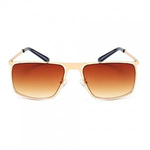 Stylish Hollow Out Golden Alloy Rectangle Frame Sunglasses For Men