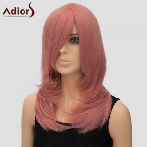 Women's Trendy Adiors Long Layered Side Bang High Temperature Fiber Cosplay Wig -