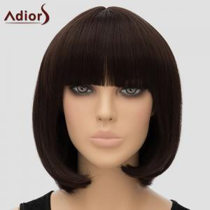 Women's Adiors Straight Bobo Full Bang High Temperature Fiber Wig
