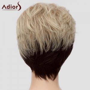 Fluffy Adiors Women's Short Heat Resistant Synthetic Wig - OMBRE 1211#