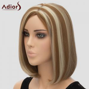 Fashion Adiors Side Bang Bobo Style Highlight Heat Resistant Synthetic Wig For Women -
