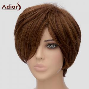 Fashion Adiors Side Bang Short Heat Resistant Synthetic Wig For Women -