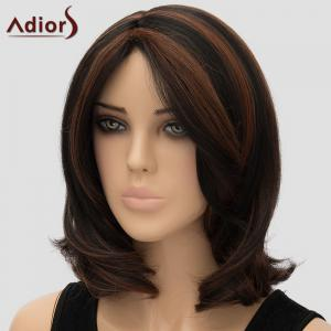 Fashion Adiors Centre Parting Heat Resistant Synthetic Wig For Women -