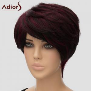 Fluffy Adiors Short Side Bang Heat Resistant Synthetic Wig For Women -