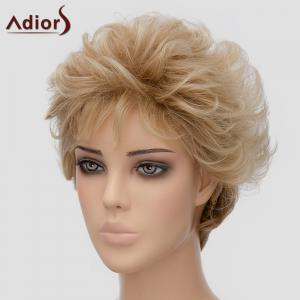 Fluffy Adiors Short Heat Resistant Synthetic Wig For Women - LIGHT BROWN