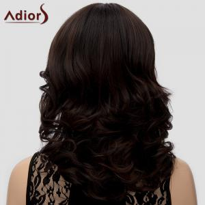 Trendy Adiors Full Bang Curly Heat Resistant Synthetic Wig For Women -