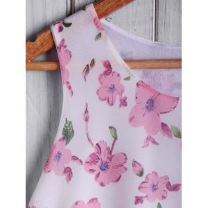 Refreshing Round Neck Floral Print Loose Women's Tank Top -