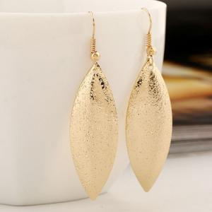 Pair of Vintage Frosted Leaf Earrings -