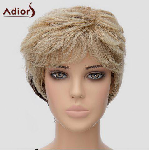 Hot Fluffy Adiors Women's Short Heat Resistant Synthetic Wig OMBRE