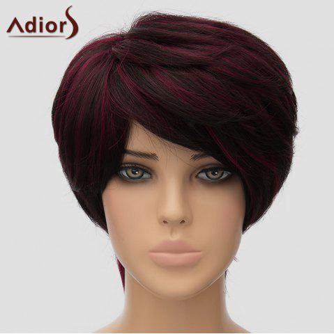 Store Fluffy Adiors Short Side Bang Heat Resistant Synthetic Wig For Women