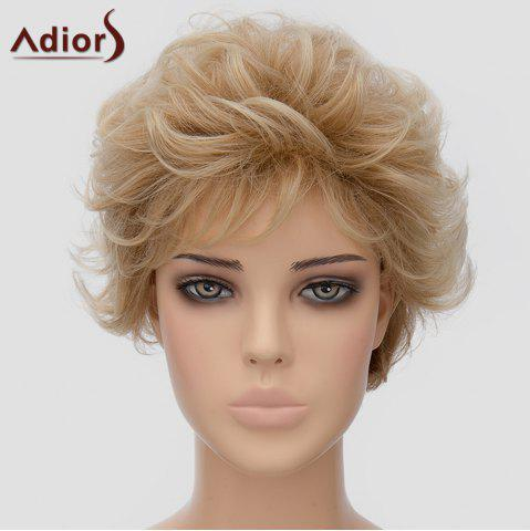 Buy Fluffy Adiors Short Heat Resistant Synthetic Wig For Women LIGHT BROWN
