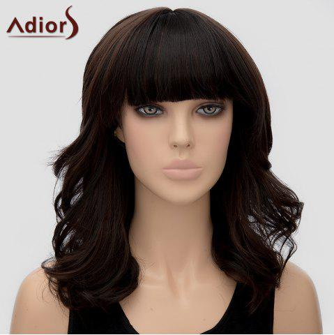 Fashion Trendy Adiors Full Bang Curly Heat Resistant Synthetic Wig For Women