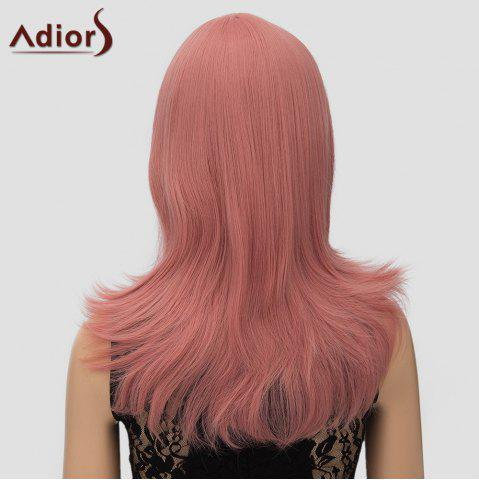 Affordable Women's Trendy Adiors Long Layered Side Bang High Temperature Fiber Cosplay Wig - PINK  Mobile