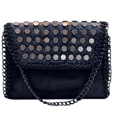 Store Fashionable Metal and Black Color Design Crossbody Bag For Women