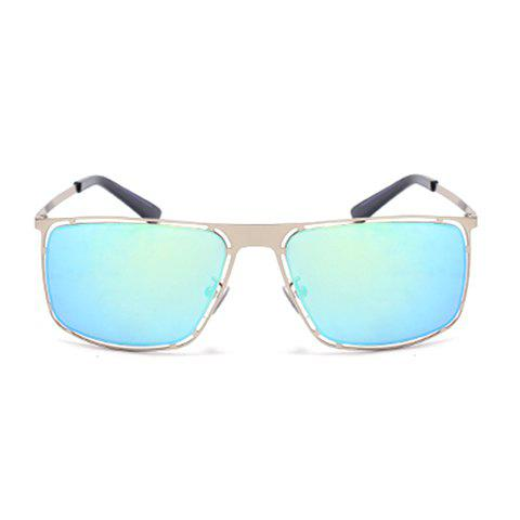 Hot Stylish Hollow Out Silver Alloy Rectangle Frame Sunglasses For Men