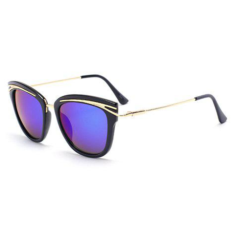 Audrey Hepburn Cat Eye Alloy Inlay Sunglasses - DEEP PURPLE