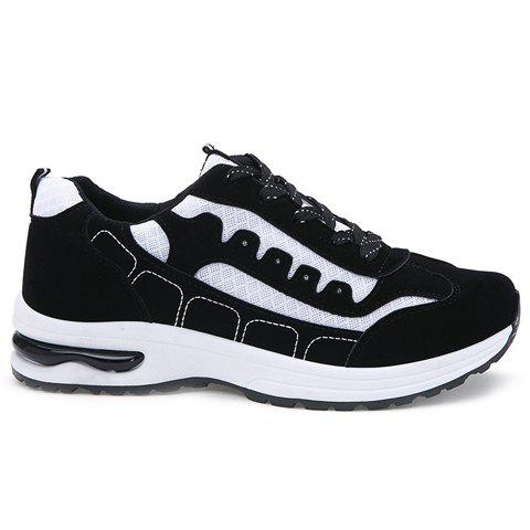 Shop Trendy Mesh and Color Block Design Athletic Shoes For Men - 44 WHITE Mobile