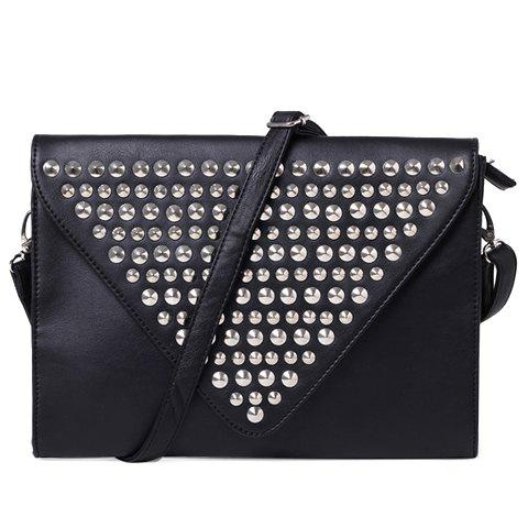 Unique Fashion Solid Color and Rivets Design Clutch Bag For Men