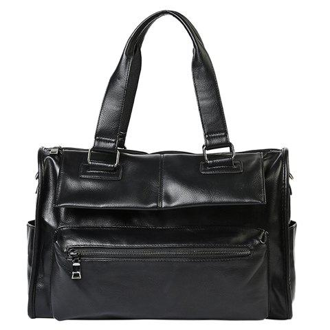 Buy Casual Black Color and Buckle Design Briefcase For Men
