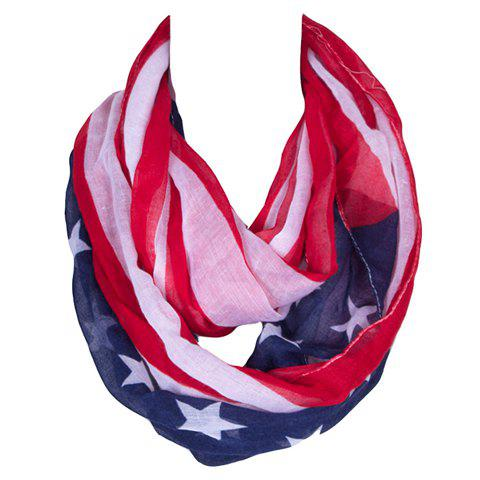 Fancy Chic Stars and Stripes Pattern Voile Bib Scarf For Women