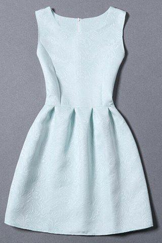 Shops Sleeveless Jacquard Dress LIGHT BLUE S