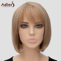 Fashion Adiors Side Bang Bobo Style Heat Resistant Synthetic Wig For Women -