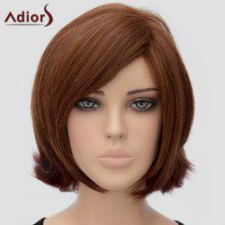 Trendy Adiors Side Bang Medium Heat Resistant Synthetic Wig For Women -