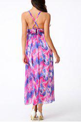 Bohemian Sleeveless Criss-Cross Backless Women's Dress -