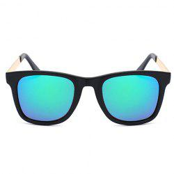 Chic Golden Alloy Leg Matte Black Frame Sunglasses For Women - GREEN