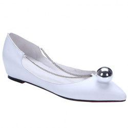 Simple Chain and Metal Design Flat Shoes For Women -