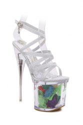 Party Cross-Strap and Super High Heel Design Sandals For Women