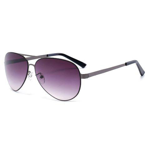 Chic Stylish Gun Metal Color Alloy Frame Sunglasses For Men Aviator