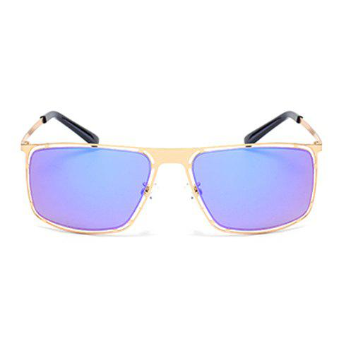Sale Stylish Hollow Out Golden Alloy Rectangle Frame Sunglasses For Men