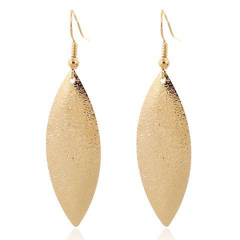Pair Stylish Solid Color Frosted Leaf Earrings Women DESCRIPTION