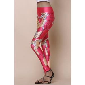 Stylish Elastic Waist Printed Slimming Women's Yoga Pants -