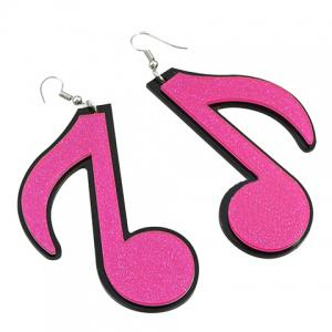 Pair of Sweet Music Note Earrings For Women -
