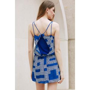 Trendy Spaghetti Strap Geometric Print Chiffon Women's Dress -