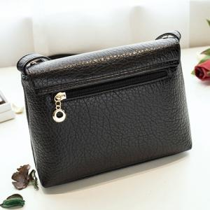 Fashion Solid Color and Metal Design Crossbody Bag For Women -
