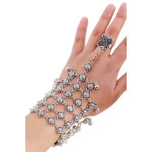 Chic Bead Hollow Plaid Bracelet and Ring For Women