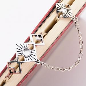 Vintage Alloy Geometric Bracelet With Ring - SILVER
